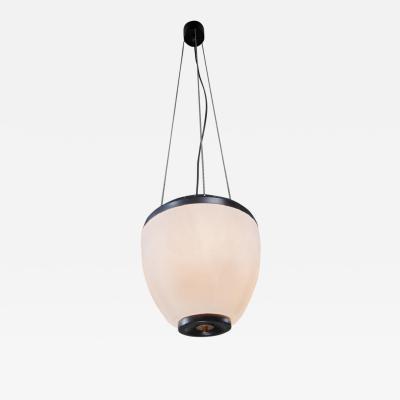 Stilnovo Large glass onion shaped Stilnovo Sciolari chandelier with three ballchains
