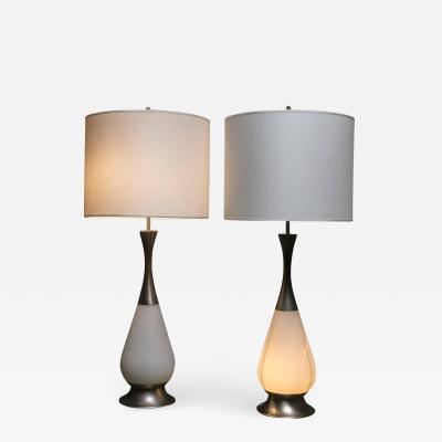 Stilnovo Marvellous Pair of Stilnovo Table Lamps