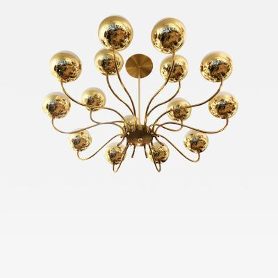 Stilnovo Mid Century Chandelier in the Style of Stilnovo