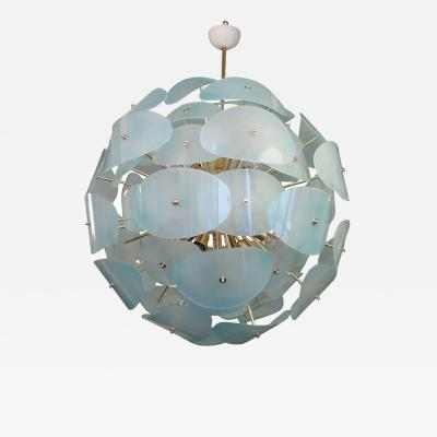 Stilnovo Murano Chandelier 1970 in the Style of Stilnovo