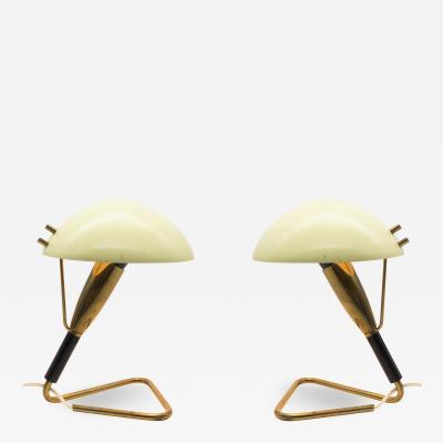 Stilnovo Pair of Brass Table Lamps 1950s