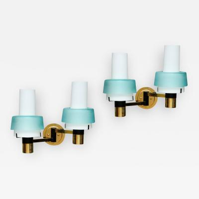 Stilnovo Pair of Two Arm Sconces by Stilnovo