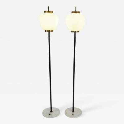 Stilnovo Pair of elegant floor lamps