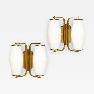 Stilnovo Rare Pair of Sconces by Stilnovo No 2107
