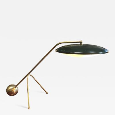 Stilnovo Rare Stilnovo Brass Table Lamp Italy 1950s