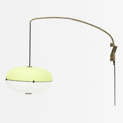 Stilnovo Rare Yellow and White Wall Hanging Lamp by Stilnovo