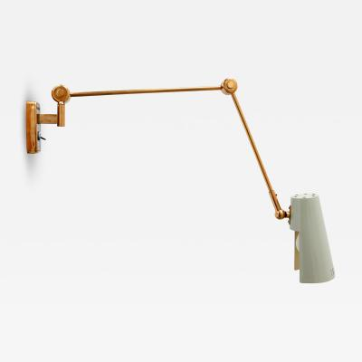 Stilnovo Rare and Articulated Mid Century Modern Wall Lamp by Stilnovo 1950s Italy