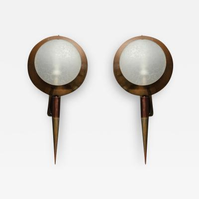 Stilnovo Rare pair of Sconces model 2128 by Stilnovo