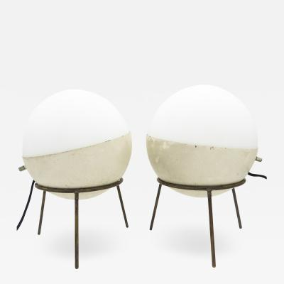 Stilnovo Rare pair of tripod table lamps
