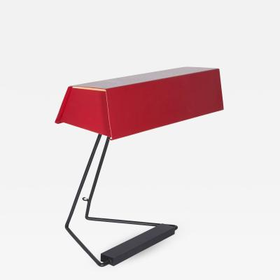 Stilnovo Red Desk Lamp by Stilnovo Italy1950s