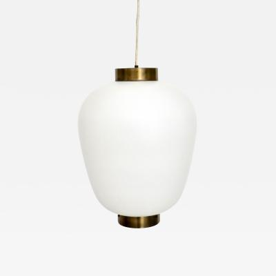 Stilnovo STILNOVO ITALIAN PENDANT LIGHT WITH OPAQUE GLASS DIFFUSER MINIMAL ASIAN FORM