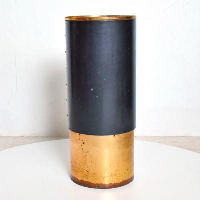 Stilnovo STILNOVO Tall Round Valet Stand Catch it All Patinated Brass Milan ITALY 1950s