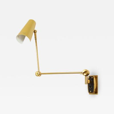 Stilnovo Single yellow tole sconce by Stilnovo