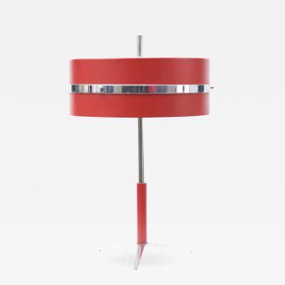 Stilnovo Small Desk Lamp in Red Italy 1955