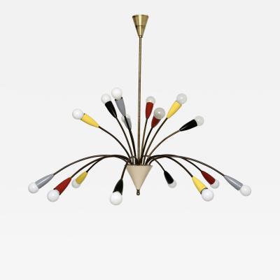 Stilnovo Sputnik Chandelier in Stilnovo Style