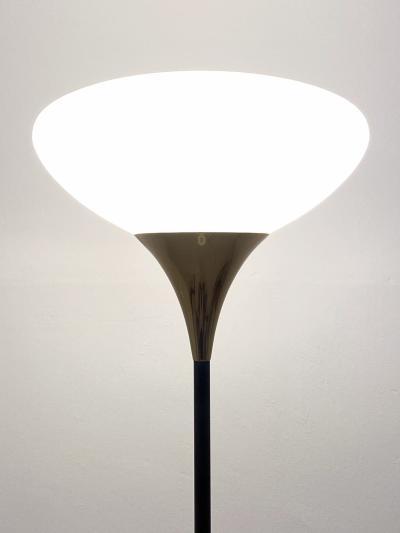 Stilnovo Stilnovo 1960s floor lamp in brass and polished metal with marble base