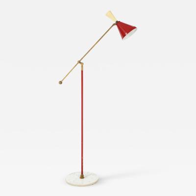 Stilnovo Stilnovo Diabolo Painted and Brass Floor Lamp Circa 1950s