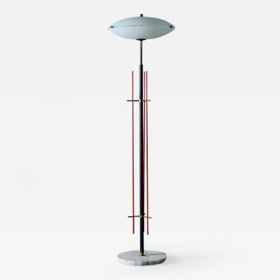 Stilnovo Stilnovo Floor Lamp with Frosted Glass Shade 1950s