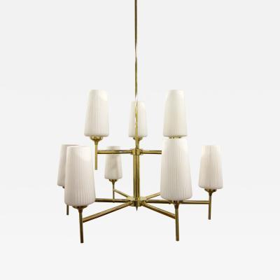 Stilnovo Stilnovo Italian Brass Chandelier