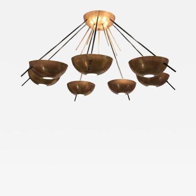 Stilnovo Stilnovo Mid Century Italian Sputnik Brass Chandelier