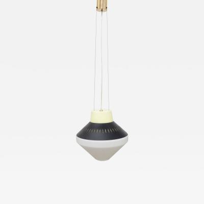 Stilnovo Stilnovo Mid century Italian Modern Geometric Suspension Pendant Lamp 1950s