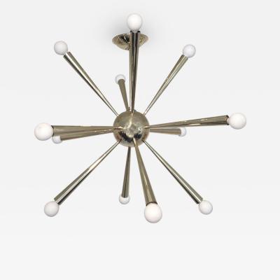 Stilnovo Stilnovo Sputnik Brass Chandelier