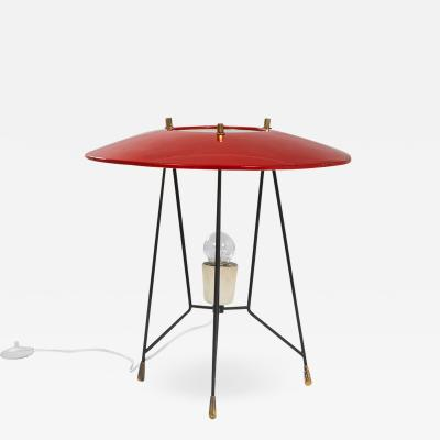 Stilnovo Stilnovo Table Lamp in Lacquered Metal and Brass 50s