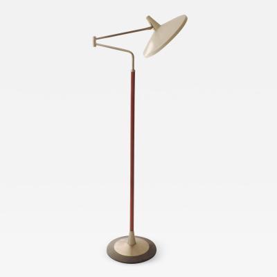 Stilnovo Stilnovo red faux leather covered floor lamp