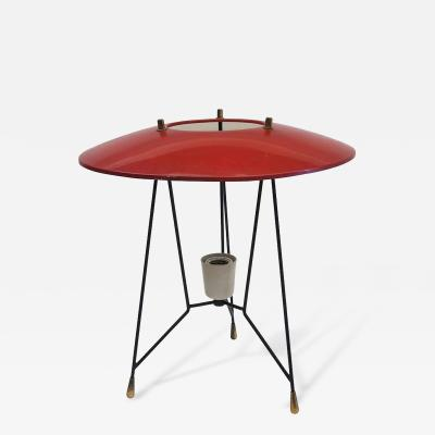 Stilnovo Table Lamp by Stilnovo Varnished Steel and Lacquered Aluminium Circa 1950