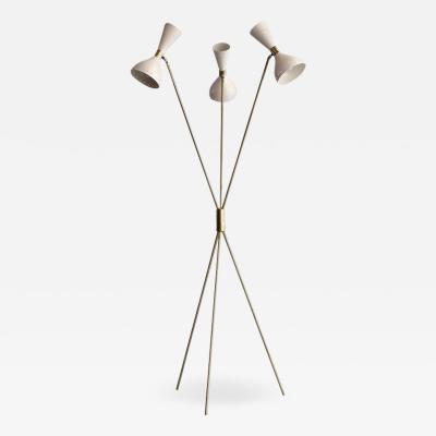 Stilnovo Three Light Tripod Stilnovo Style Floor Lamp