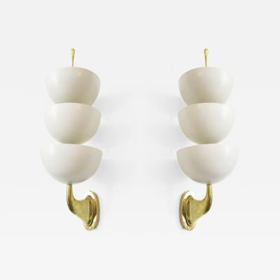 Stilnovo Triple Cup Uplight Sconces by Stilnovo Italy