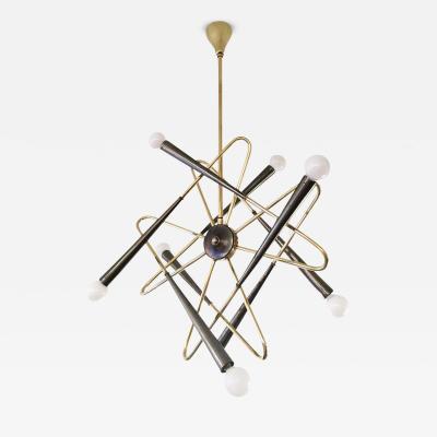 Stilnovo Whimsical Sputnik Chandelier Attributed to Stilnovo Italy 1960s