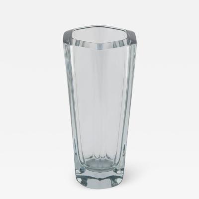 Strombergshyttan Hexagonal Strombergshyttan Glass Vase circa 1950s