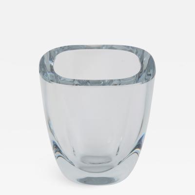 Strombergshyttan Small Rectangular Strombergshyttan Glass Vase circa 1950s