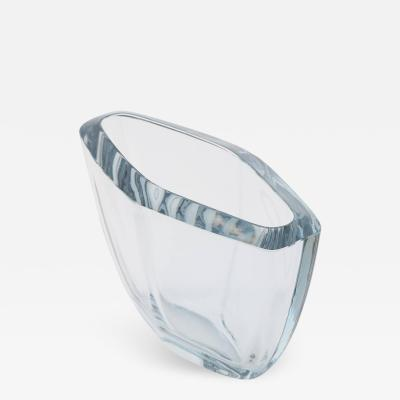 Strombergshyttan Wide Diamond Shaped Strombergshyttan Glass Vase circa 1950s
