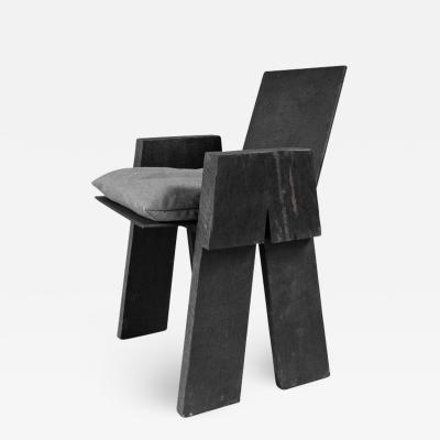 Studio Arno Declercq AD Sculpted Chair Sculpted Iroko Wood Arno Declercq