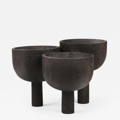 Studio Arno Declercq Arno DeClercq Iroko Wood Triple Tray