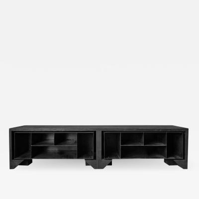 Studio Arno Declercq Burnt Oak Cabinet by Arno Declercq