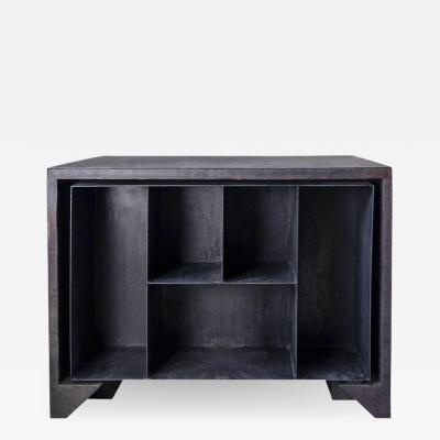 Studio Arno Declercq Burnt Oak Desk Cabinet by Arno Declercq
