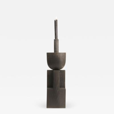 Studio Arno Declercq Iroko Wood and Oak Signed Candleholder Arno Declercq