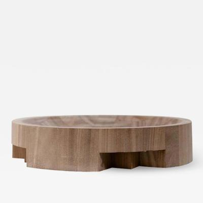 Studio Arno Declercq LARGE DISK TRAY AFRICAN WALNUT SIGNED BY ARNO DECLERCQ