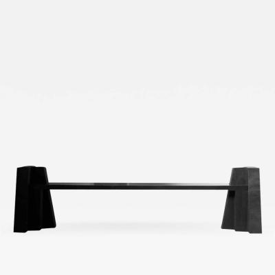 Studio Arno Declercq SCULPTURAL IROKO BENCH BY ARNO DECLERCQ