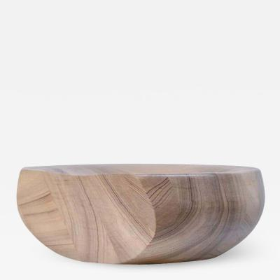 Studio Arno Declercq SLICED BOWL AFRICAN WALNUT SIGNED BY ARNO DECLERCQ