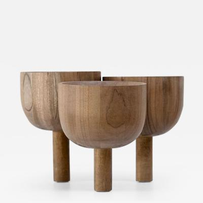 Studio Arno Declercq Triple Tray 2 0 in African Walnut Arno Declercq