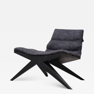 Studio Arno Declercq V Easy Chair in Iroko Wood by Arno Declercq