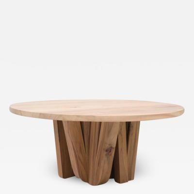 Studio Arno Declercq Zoumey Round Table in African Walnut by Arno Declercq