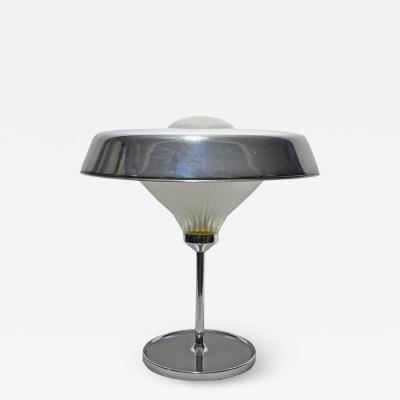 Studio BBPR 1960S CHROME METAL TABLE LAMP BY STUDIO BBPR