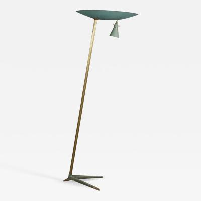 Studio BBPR Floor Lamp Midcentury Attributed to BBPR Studio in Brass and Iron 1940s