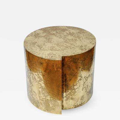 Studio Glustin Acid Patinated Brass Pedestal