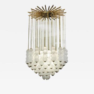 Studio Glustin Impressive Glass and Brass Chandelier